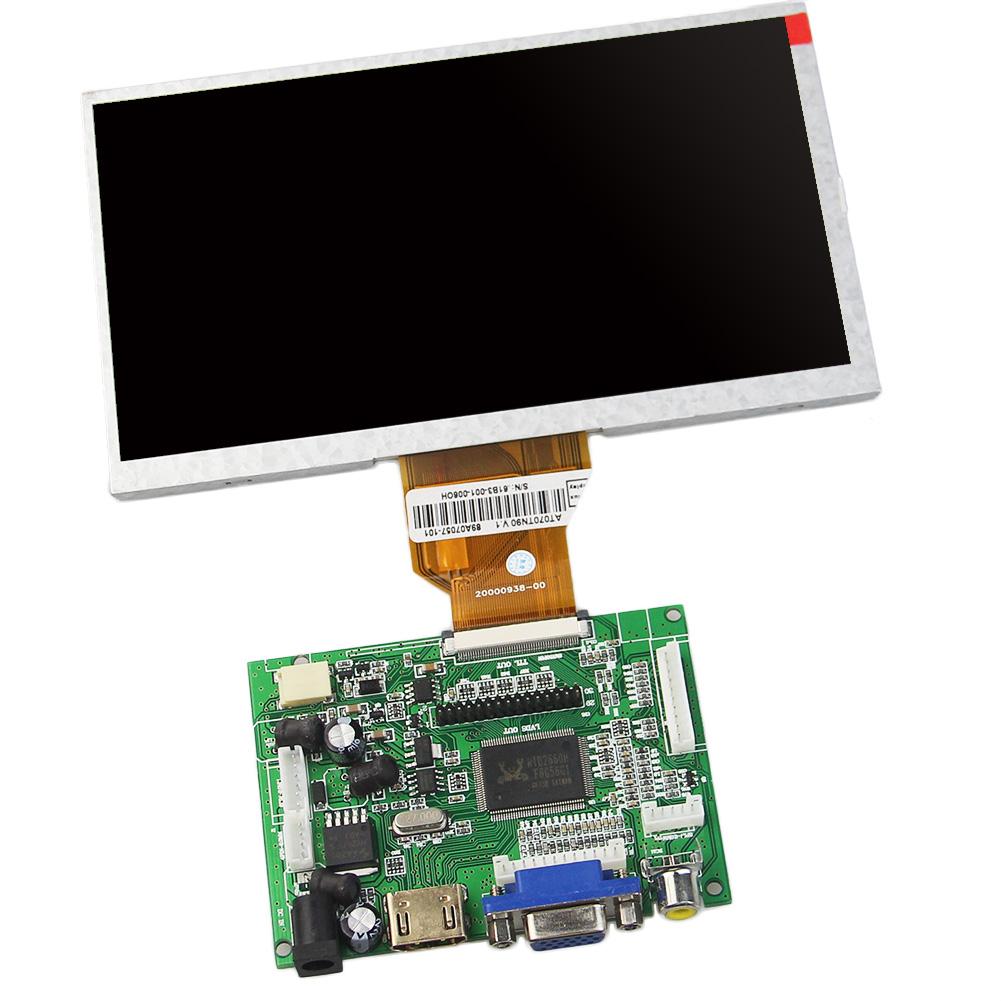 7 Inch TFT LCD Module+ HDMI& VGA&2AV A/D Driver Board Control Board 800*480 Resolution for CAR PC Display Screen(China (Mainland))