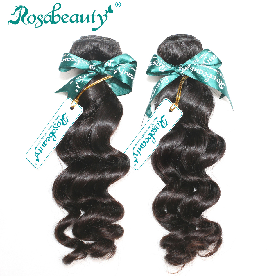 2 Bundles/Lot Brazilian Virgin Hair Loose Curly Human Hair Extensions Rosa Hair Brazilian Hair Weave Bundles(China (Mainland))