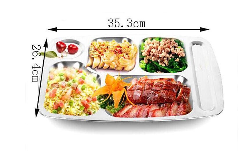 Free Shipping Tableware Cooking Tools Stainless Steel Snack Plate Dinner Plate For Babecue Supplys(China (Mainland))