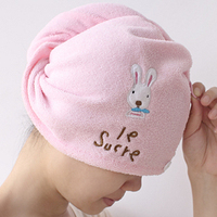 Derlook 2378 magic bamboo fibre super absorbent dry cartoon rabbit towel dry hair hat  (KA-25)