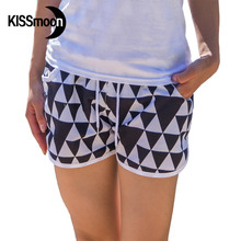 KISSyuer Quick-drying Triangle chequered with black and white sexy swimwear summer women Couples Women board shorts KBS1007