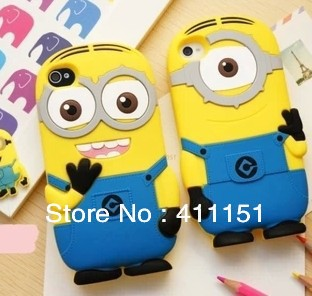 3D Despicable 2 Minions Soft Silicone Back Cover Case Apple iPod Touch 4 4G - ALEX ZHOU Store store