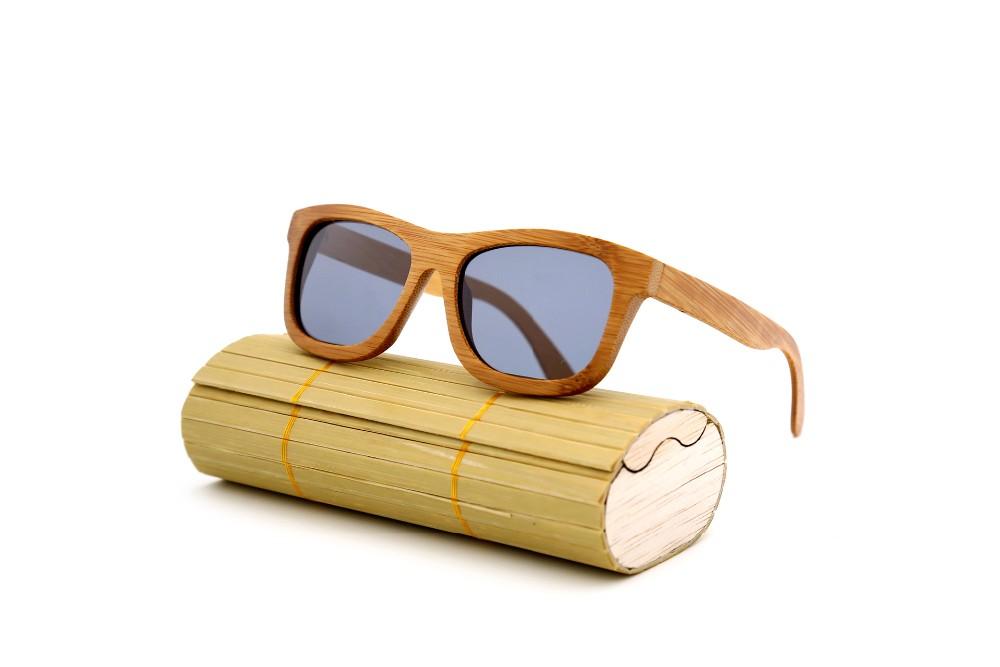 Handmade Unisex Bamboo Wood Polarized Sunglasses Red Wood Frame Retro Glasses