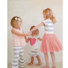 Buy Enfant Kid Girls Children Baby Girls Dress Cute Striped Princess Dresses Kids Toddler T-Shirt Tutu Dress for $4.70 in AliExpress store