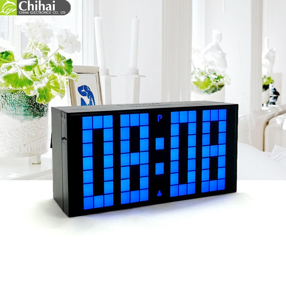 CH KOSDA Large Big LED Digital Countdown Timer Alarm Clock Desktop Wall Table Desk Room Clocks Multifunctional Electronic Clocks(China (Mainland))