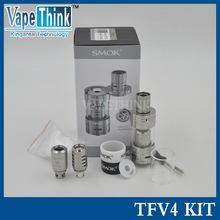 stock  5.0ml Smoktech TFV4 tank kit with 3 coils 0.15ohm 0.2ohm 0.85ohm RBD coil smok TFV4 tank