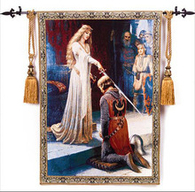 New concept jaquard Medieval Tapestry Accolade Knighting Ceremony 98*140cm(China (Mainland))