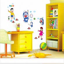 Cartoon Doraemon Wall Sticker Home Decoration Wall Decals for Kids Rooms bedroom kindergarten living room Poster Wallpaper TC971