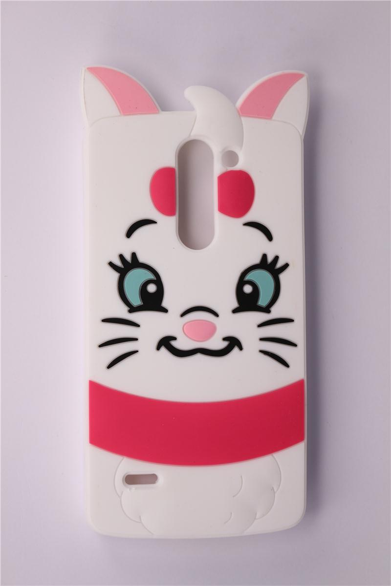 Mobile Phone Case LG G3 Stylus D690 D690N 2015 New Soft Silicone Lovely 3D Cartoon Marie Cat Pattern Protective Covers - LONWAY Electronics technology Co. Ltd store