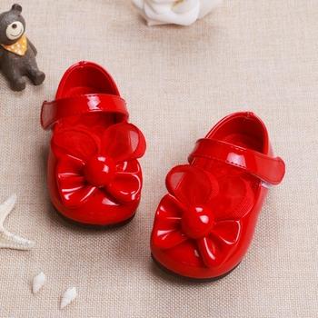 Девушки детей Shoes Для Девочек 3 Цвет Весенний Цветок Shoes Baby девушка ИСКУССТВЕННАЯ Кожа Перл Обувь для 0-2 Лет Infantil Menina