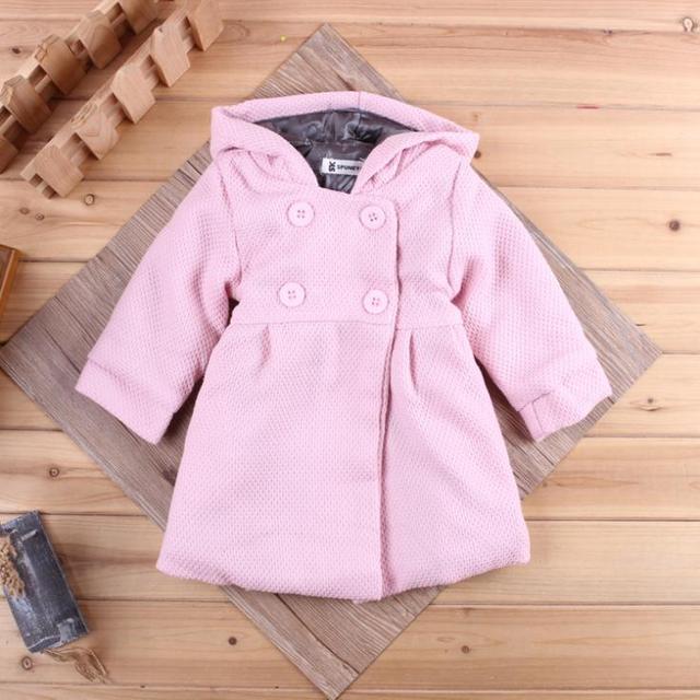 Известный дизайн одежды модели женского пола ребенка куртка с длинными рукавами Весенние цветы подкладка хлопок хлопка младенца куртка с капюшоном