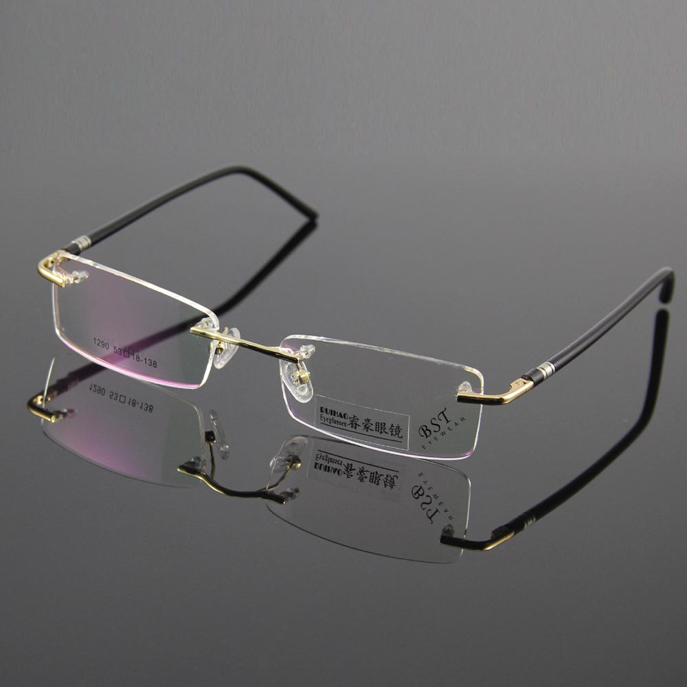 Rimless Glasses Trend : Aliexpress.com : Buy Fashion Eyewear Unisex Glasses Frame ...