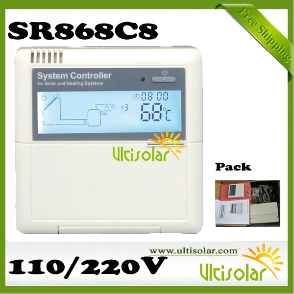 Solar System Controller SR868C8 Solar System Controller Free Manual Classic 10pcs Free Shipping 3 days out Ultisolar New Energy(China (Mainland))