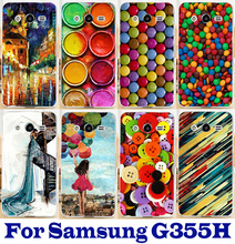 colorful painting background phone case Skin Shell Cover for Samsung Galaxy Core 2 G355H drop ship beautiful hard Plastic Case(China (Mainland))