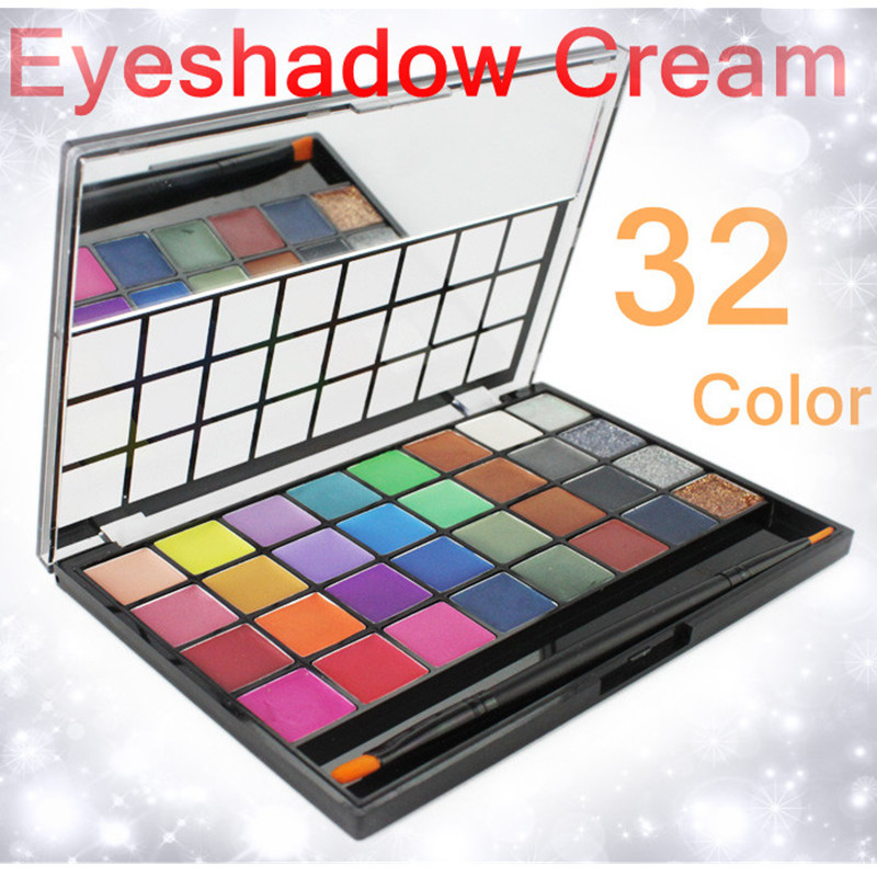 HOT Sale/Cosmetics Professional NARAS 32 Color Shimmer Glitter Cream Eyeshadow/Eye Shadow Makeup Palette/More durable waterproof<br><br>Aliexpress
