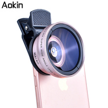 Buy Aokin Camera Lens Kit 0.45X Super Wide Angle Lens 12.5X Macro Lens, Clip Cell Phone Lens iPhone Xiaomi Samsung Phones for $9.99 in AliExpress store