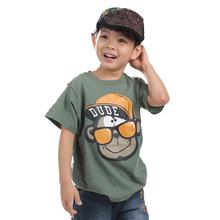 roupas infantis menina 2015 new Moomin Children summer short garcon cotton Tees O-Neck Letter green blue kids t-shirt for boys