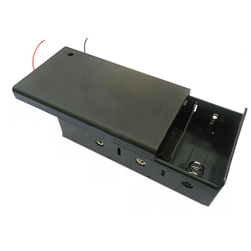 FreeShipping Black Plastic 100PCS 4.5v Battery Storage Boxes For 3Pcs D Size LR20/UM1/AM1 Batteries Christmas Light Battery Case(China (Mainland))