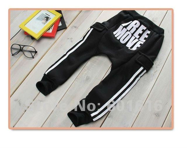 2015 Real Direct Selling Freeshipping Broadcloth Letter Mid Loose Free Shipping! Move Children Pants Size for 90,100,110,120,130