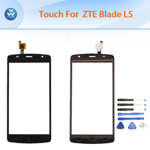 Buy Black white touch panel ZTE Blade L5 L5 Plus touch screen digitizer sensor glass phone parts repair tools for $8.57 in AliExpress store