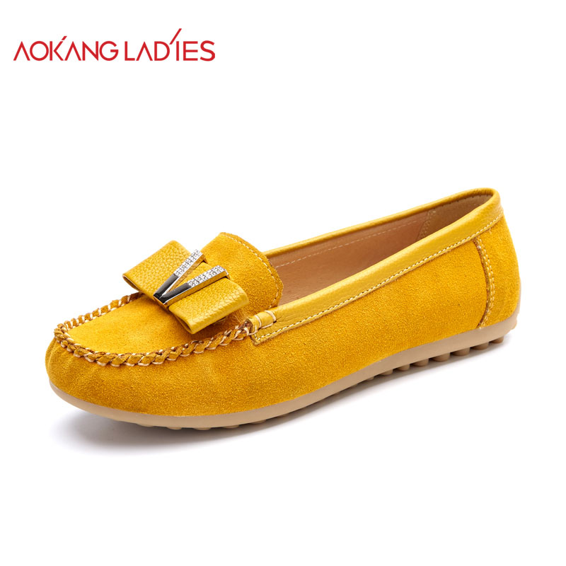 aokang 2016new arrival flats shoes brand shoes