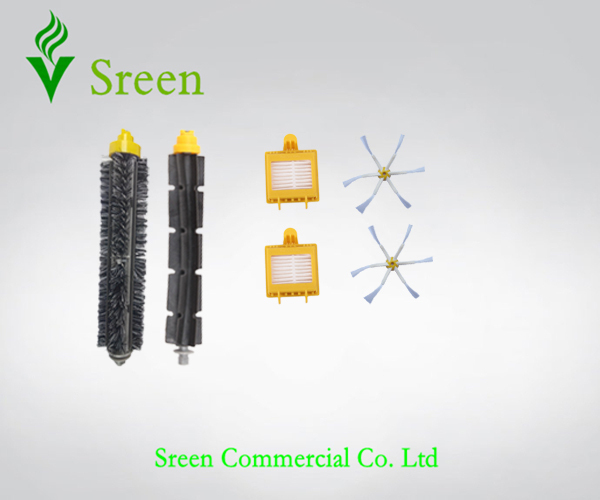 Filters Side Brush 6 Armed for iRobot Roomba 700 Series 760 770 780 790 Robots Vacuum Cleaning Parts Free Shipping(China (Mainland))