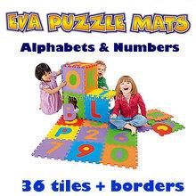 36 pz/lotto environmentally schiuma eva di puzzle numeri + lettere ascolta mat puzzle tappetini bambino tappeto pad giocattoli per i bambini 12 cm * 12 cm  (China (Mainland))