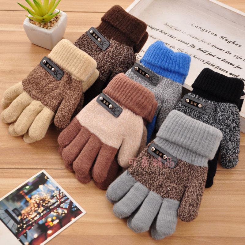 2015 Autumn And Winter Gloves Mittens Thick Warm Cashmere Gloves Boy Five Fingers Gloves children & Kids Glove 8 Styles(China (Mainland))