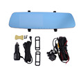 Car Vidieo Cameral 5 0 Inch Car Rear View Mirror DVR Anti Rearview Mirror Dual Lens
