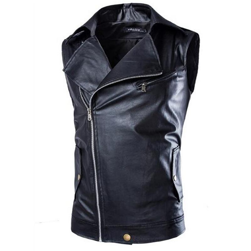 New Fashion Men Suede Biker Jacket Slanted Zipper Slim Fit Leather Vest Men Motorcycle Sleeveless Leather Jacket Men Q1848Одежда и ак�е��уары<br><br><br>Aliexpress