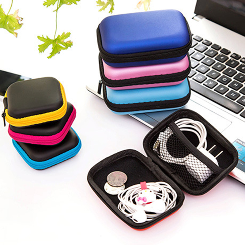 Hoomall Storage Bag Case For Earphone EVA Headphone Case Container Cable Earbuds Storage Box Pouch Bag Holder(without earphone)(China (Mainland))