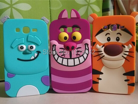 3D Monsters University sulley tiger Alice cat Soft Silicone Back Cover Samsung Galaxy Grand Neo i9060 I9062 9060 phone case - A Lan Digital Shop store