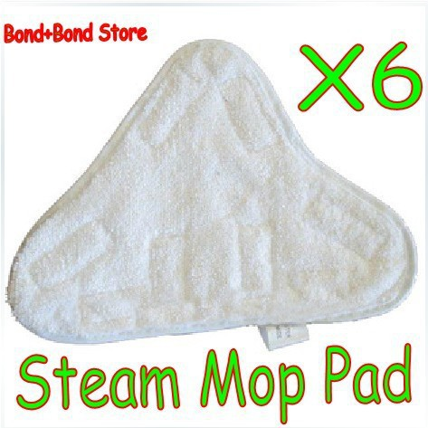 Microfibre Floor Replacement Washable Pads Pad For Steam Mop Cleaner x6(China (Mainland))