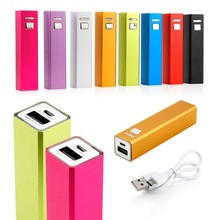 2600mAh USB Portable External Backup Battery Charger Power Bank for iPhone5 iphone6 Samsung mobile phone +free USB Cable