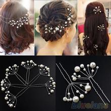 Fashion New Wedding Bridal Bridesmaid Pearls Hair Pins Clips Comb Headband