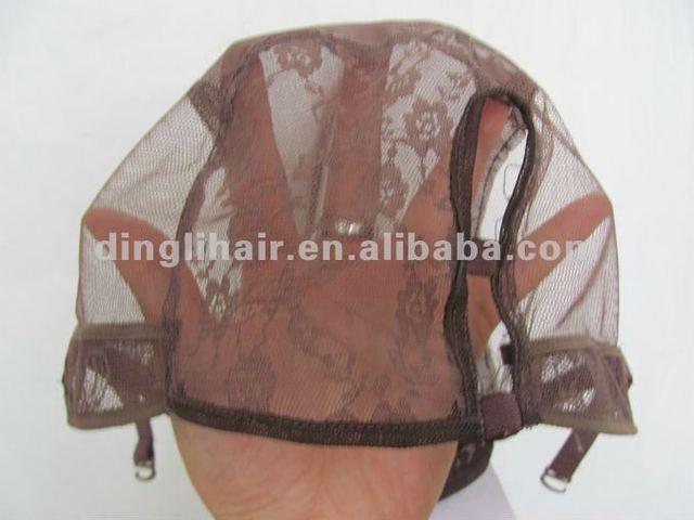 2014 China wholesale adjustable u part wig cap/stretch colored lace wig caps
