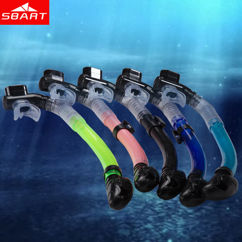 SBART Totally Dry Snorkel for Scuba Diving Snorkeling Swimming Diving Breathing Tube Silicone Pipe Underwater Black Blue Pink N(China (Mainland))