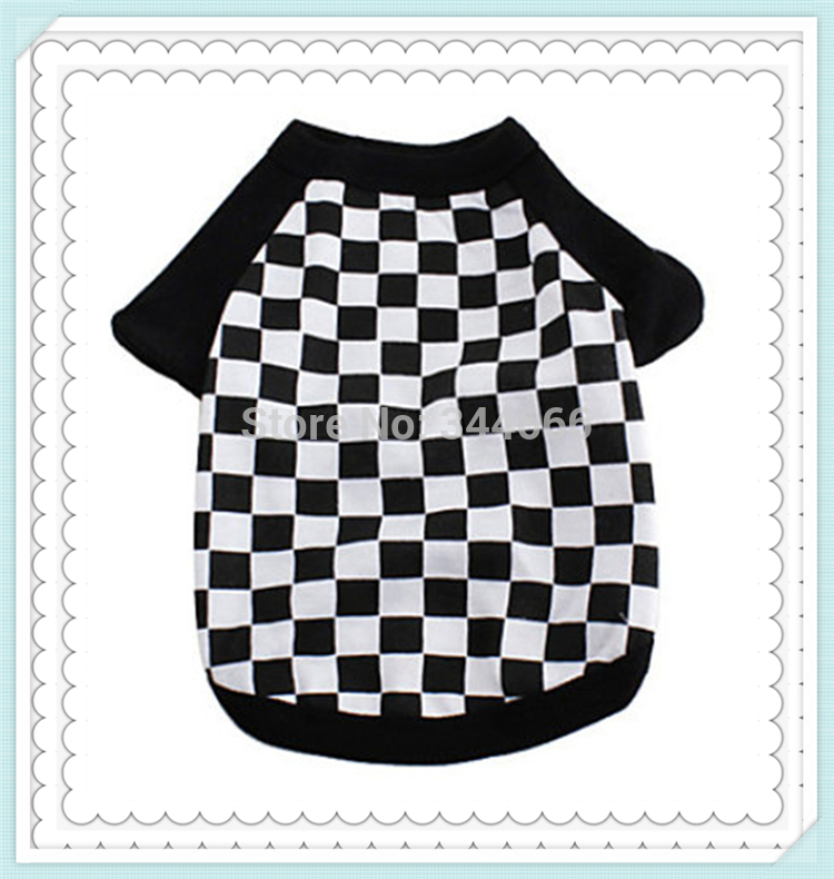 "High quality Brand new cotton single jersey print""checkered""clothes for dogs,dog clothes,pet clothes,dog dress free shipping(China (Mainland))"