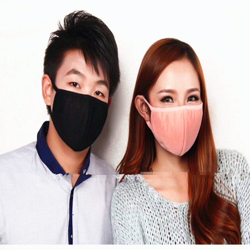 Cotton PM2.5 Anti Haze mouth Mask anti dust mask Activated carbon filter Windproof Mouth-muffle bacteria proof Flu Face masks