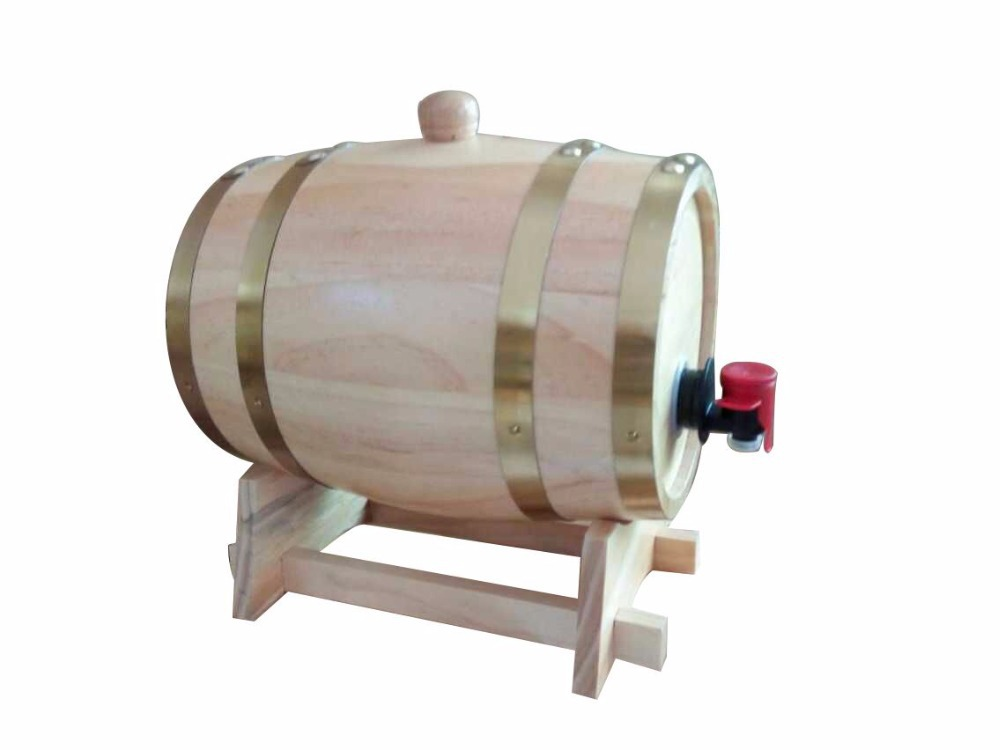 3Loak barrel wooden barrel hotel Bar restaurant decoration Whiskey Beer bucket stainless steel tank liquor easy key opening(China (Mainland))