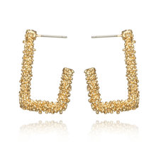 ZA Metal Big Drop Earrings for Women Gold Silver Color Earrings Square Vintage Brincos Statement Earings Fashion Jewelry(China)