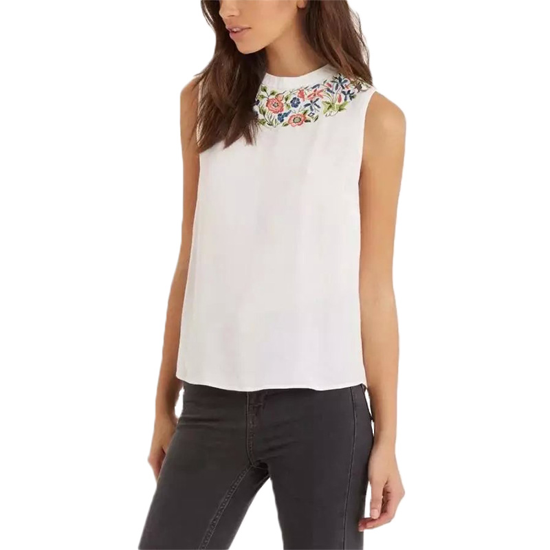 Buy women sweet white embroidery floral t for White floral shirt womens
