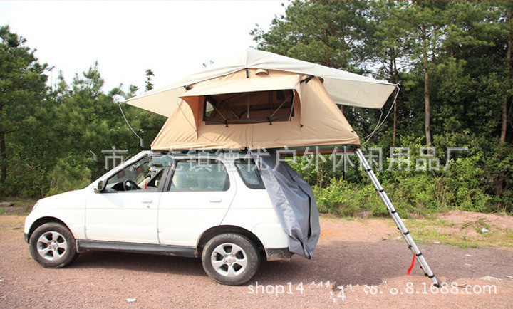3100*1400*1300mm Roof tent car outdoor awning camping tour waterproof canopy canvas tent car roof tent()