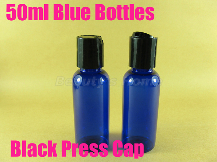 50ml Press cap Blue bottle comestic make container small/empty bottles #2095 - Packing Supplier(Bottles and Jars store)