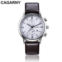 Cagarny marca deporte de los hombres relojes multifunción de cuarzo militar negocio reloj regalo de los hombres Montre Homme Relogio Masculino(China)