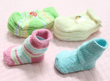 Thickening half velvet baby boys girls socks baby clothing accessories booties floor infant socks homewear 1pair