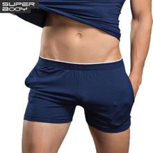 Buy Superbody Men's Underwear Boxer Shorts Trunks Cotton High Underwear Men Brand Clothing Shorts Men Boxers Home Sleep Wear for $7.59 in AliExpress store