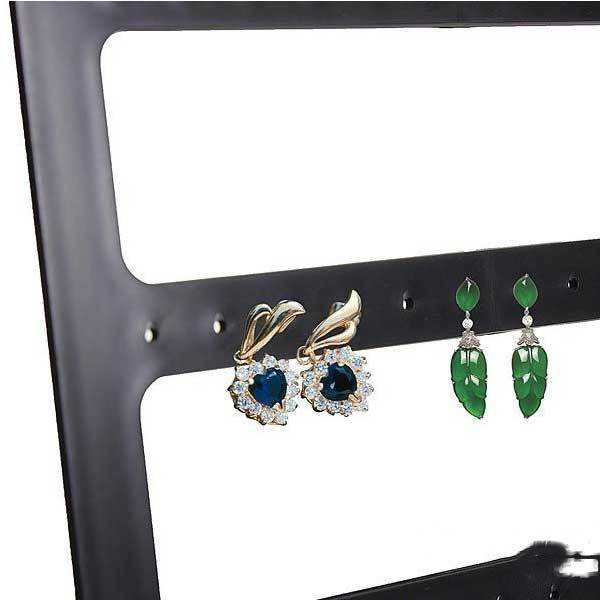 Aladdinner 24 Pairs Earrings Black Plastic Jewelry Display Stand Holder Show Case(China (Mainland))