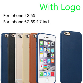 5 /5S Super Flexible Clear TPU Case For Iphone 6 6s Slim Crystal Back Skin Rubber Phone Cover Fundas Silicone Gel Case logo 1:1