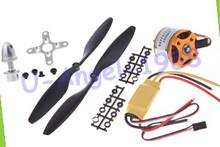 A2212 1000KV 2200 Motor sin escobillas Outrunner + simonje 30A ESC + 1045 hélice (1 par) juego de cuatro rotores para aviones RC multicóptero(China)